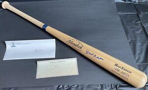 Hank Aaron Autographed Baseball Bat