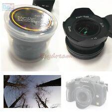 8mm F3.8 Manual Wide Angle Fisheye Lens fr Olympus Panasonic M43 MFT EP5 OMD EM5