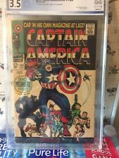 Captain America #100 (Apr 68) PGX 3.5 This MONSTER UNMASKED!