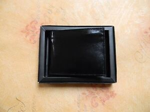 Jarvis Jenkins Boxed Men's Bi-Fold Black Soft Leather Wallet  W15 BK