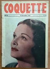 VINTAGE MAGAZINE RIVISTA 月刊 JOURNAL COQUETTE LA CICALA PIN UP NUDE N 23 12 1946