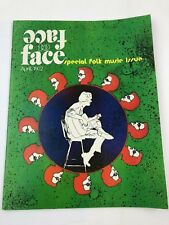 Face To Face Magazine April 1972 Special Folk Music Issue