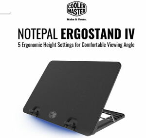 "Cooler Master Black NOTEPAL ERGOSTAND IV Laptop Fan Cooling Stand (Up to 17"")"