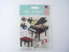 JOLEES BOUTIQUE MUSIC PIANO RECITAL SCRAP BOOK STICKERS