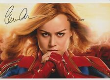 Brie Larson Signed Mounted Photo Display Captain Marvel #1