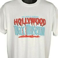 Hollywood Wax Museum T Shirt Vintage 80s World Famous Made In USA Size Large