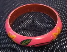 Lovely lightweight bangle style bracelet with floral design approx 2½ ins wide