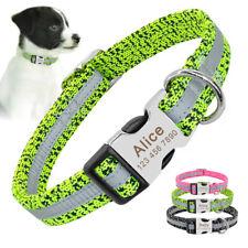 Reflectante collar de perro personalizado nombre Personalizado Teléfono Dirección Personalizado Grabado