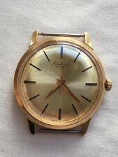 Vintage RARE Men RAKETA PAKETA Wrist Watch 16 jewel USSR CAL.2609 AU 20 GOLD PLA