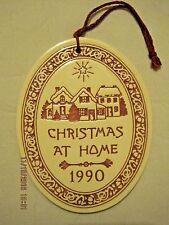 Christmas at Home 1990 Ceramic Ornament