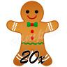 Weihnachten Lebkuchen-Mann eßbar Tortenbild NEU Muffinaufleger Deko backen Kekse