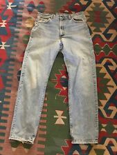Levis 505 made in USA Tag 36 x 33 Light Wash Denim Straight Leg Vintage
