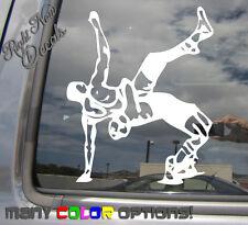 Freestyle Wrestling - Greco Roman Wrestler Car Window Vinyl Decal Sticker 04061