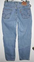 LEVI'S 550 Jeans Sz 31 Men's Distressed Relaxed Straight Leg Blue Mid Rise