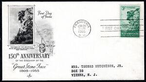 US FDC, SC#1068, Franconia, New Hamshire, Great Stone Face, ArtCraft Cachet,1955