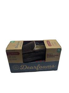 DEARFOAMS Men's Memory Foam Slippers XL 13-14 Brown 1052985 Indoor / Outdoor