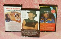 Lot 3 Willie Nelson Cassette Tapes Stardust Double Play Me & Paul Red Headed