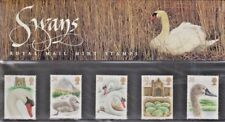 """GB.  5 MNH Stamps.  """"SWANS""""  Presentation Pack 234."""