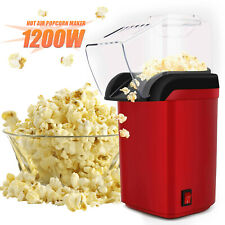 1200W Hot Air Popcorn Maker Fast Popcorn Popper w/Measuring Cup for Family Party