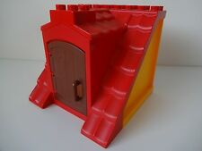 Lego Duplo - RED ROOF with Orange Walls & opening door - Ideal for House / Farm