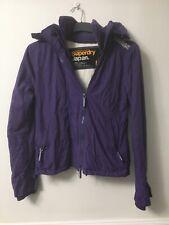 Superdry Windcheater Womens Purple Nylon Jacket M(D43)