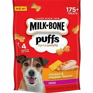Milk-Bone Puffs Light & Crunchy Mini Chicken & Cheddar Snacks for Dogs 8 oz