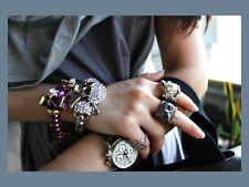 KENNETH JAY LANE KJL Violet Enamel & Swarovski Crystal Elephant Bangle Bracelet