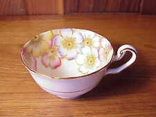 VINTAGE ENGLISH VICTORIA PORCELAIN TEA CUP ONLY -ANNETTE - FANCY COLORFUL FLORAL