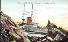 Lundy. Wreck of HMS Montague at Lundy Island in Emerald Series.