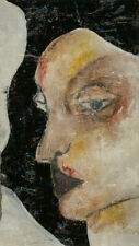 Ben Carrivick - Signed Contemporary Oil, Woman with Purple Lips