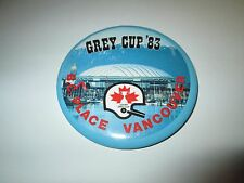 1983 CFL Grey Cup Souvenir Pin Pinback Button B.C. Place Vancouver Football