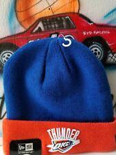 New Era NBA Oklahoma City Thunder Beanie Hat w/Team Lanyard