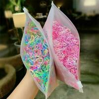1000pcs Hair Rings Candy Color Hair Ropes Ponytail- Holder for -Girls