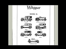 Whippet Willys-Overland 96 Parts & Tech Manual 160 pgs w/ Tuning & Service