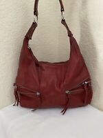 Tano Red Leather Hobo Shoulder Handbag