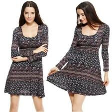 Polyester Long Sleeve Plus Size Floral Dresses for Women