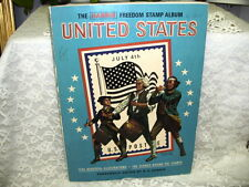 HARRIS FREEDOM STAMP ALBUM  OF THE UNITED STATES 85% FULL OF STAMPS