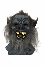 New Grey Hairy Wolf Mask Werewolf Halloween Horror Adult Fancy Dress Accessory