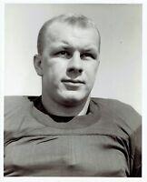 1956 Original Photo QB Bob Ptacek Michigan Wolverines Football Team in uniform