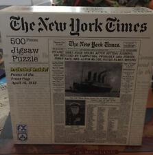 Puzzle The New York Times articolo Titanic 500 pezzi jigsaw 18x24 cm + Poster