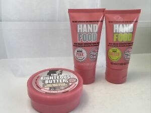 Soap & Glory 3 Piece Set, O.P. hand food, sugar crush, & Righteous Butter new!!