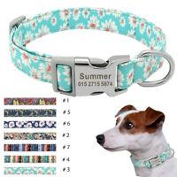 Personnalisé Collier pour chien Colliers pour chiens personnalisé gravé Boucle