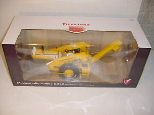 1/16 Minneapolis Moline G850 W/2-Row Picker by SpecCast! Firestone Edition NIB!