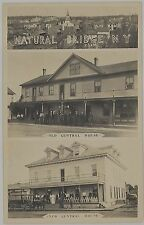 c1910 New & Old Central House Natural Bridge New York real photo postcard