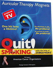 NEW Quit Stop Smoking ZEROSMOKE Auricular MAGNET Therapy HEALTH MAGNETS for ear