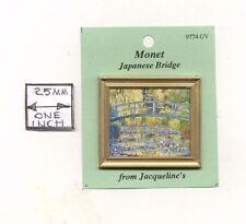 "Painting ""Japanese Bridge"" Monet  dollhouse miniature 1/12 scale 9774 frame"