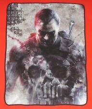 New The Punisher Plush Throw Gift Blanket Marvel Comics Frank Castle Skull Logo