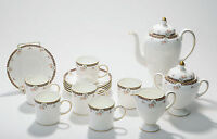 Wedgwood Fine Bone China Coffee Set for Six in the Isis Pattern
