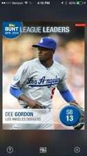 Dee Gordon 2014 Topps Bunt April SB League Leaders /39 with purchase of note
