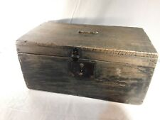 Antique Blue Wood Document Box